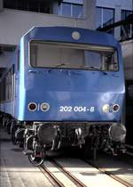 br-202-202-002-bis-004-henschel-bbc-de-2500-versuchstraeger/601772/202-004-8-im-technik-museum-in 202 004-8 im Technik Museum in Mannheim im Oktober 1996 (Diascan).