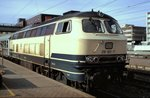 218 901-7 (ex 210 001) in Ulm am24.07.1983 (Diascan).