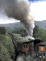 Mount Washington Coq RR Lok No.9 Waumbek am 01.06.1999.